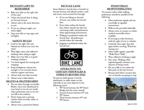 Bicycle, Motorist & Pedestrian Safety Information